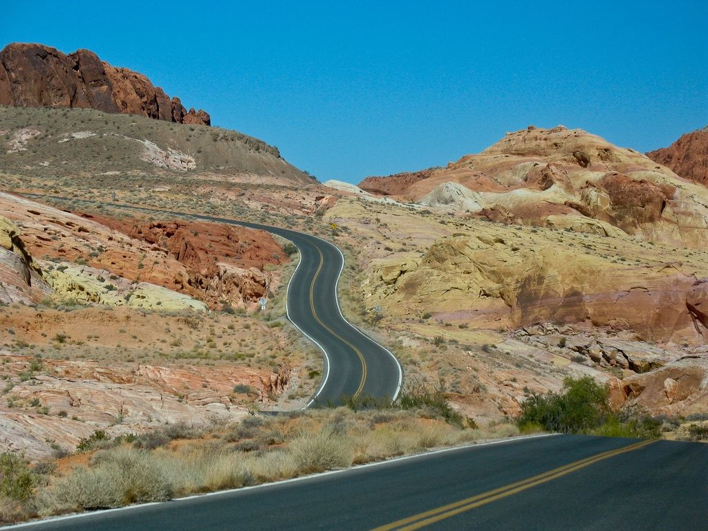 Straße ins Nirgendwo- Valley of Fire StatePark Nevada