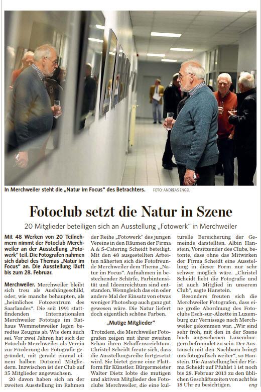 Artikel zur Ausstellung - Natur im Fokus