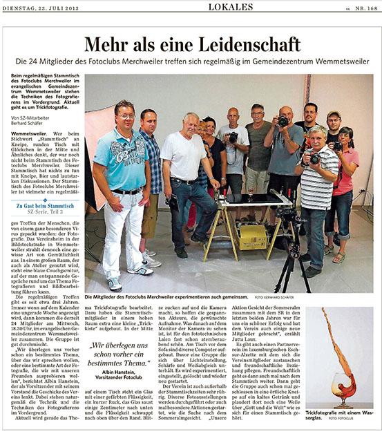 Die Saarbrücker Zeitung berichtet