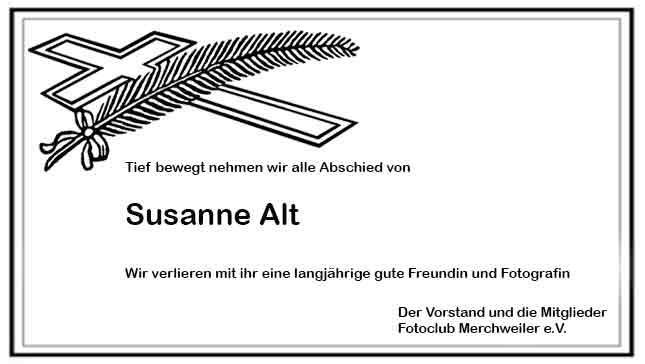Abschied von Susanne Alt